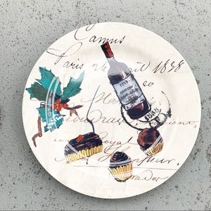 One Williams Sonoma Holiday Christmas Salad Plate